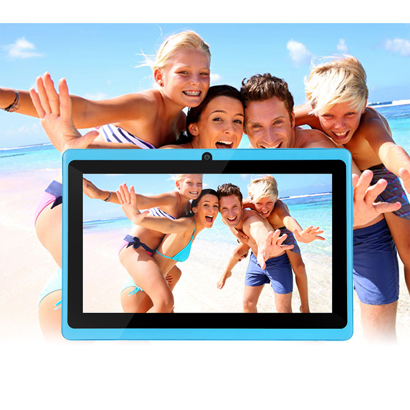 7-дюймовый четырехъядерный Android 4.4 дети tablet pc Q8 Q88 фонарик Allwinner 512 М 8 ГБ Bluetooth HD 1024*600 таблеток Двойная камера Wi-Fi