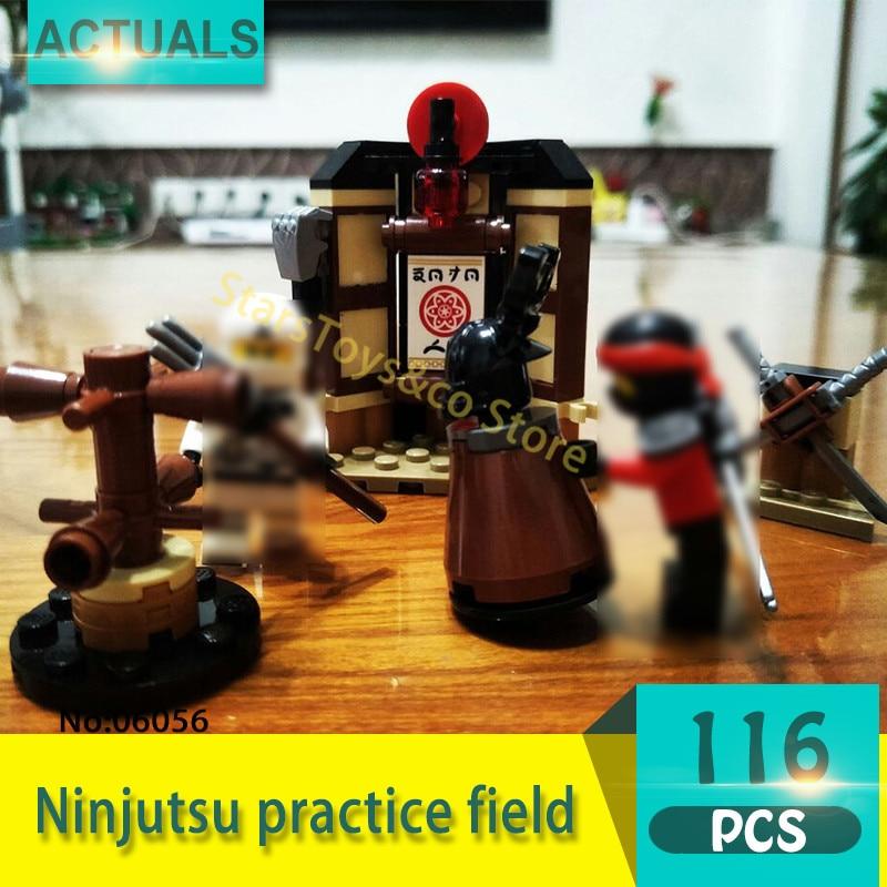 Lepin 06056 116Pcs Ninja series Ninjutsu practice field Model Building Blocks Set  Bricks Toys For Children Gift 70606