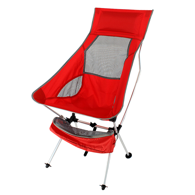 Colorful Red Portable Lightweight Folding Camping Chair For Backpacking Hiking Picnic