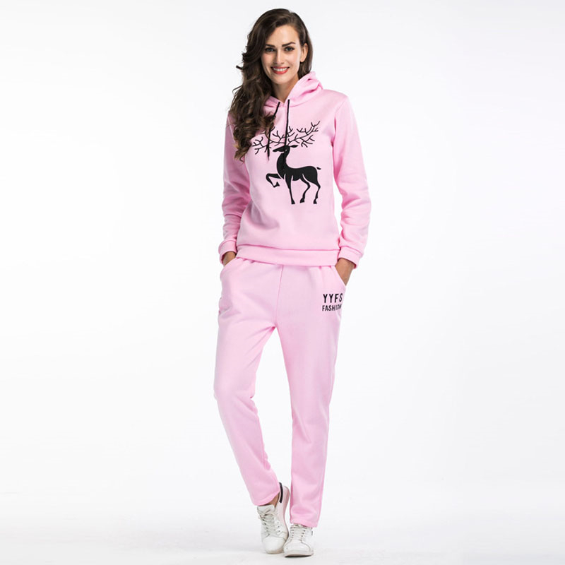 High-quality Women Tracksuit Fashion Hoodies Sweatshirt And Pants 2 Pieces Set Suit Female Pullover Crop Top And Trousers Suit