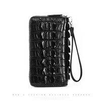 kadilaier Crocodile leather handbag man leather Thai crocodile leather wallet long genuine crocodile leather handbag hand bag