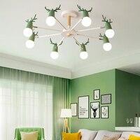 Дети рога потолочный светильник нордическая Светодиодная лампа для потолка лампа для спальни детская комната гостиная свет Светодиодная л