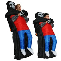 Inflatable Costume Halloween Horrible Death Catch Cosplay For Scary Ghost Dress Have A Very Scary Effect