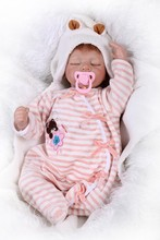22 inch Full Realistic Babies Doll Toys Reborn Baby Dolls 55cm Bonecas Bebe Collectors For Girl Kid Christmas Gift