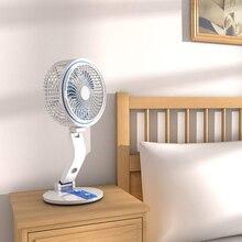 Foldable Solar Fan with LED Light
