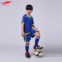 High quality soccer jersey kids soccer set boys football uniforms youth kits short sleeves breathable survetement football 2017(China)
