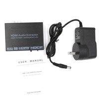 New HDMI TO HDMI Audio Extractor Converter Adapter SPDIF + R/L 4K ARC EDID Setting Audio Extractor 4K*2K HSJ 19