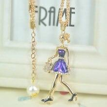 Женское офисное ожерелье с бисером длинная цепочка кулоном хороший