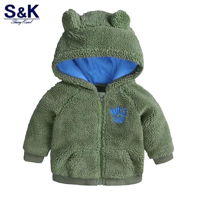 XC-141 Autumn Winter Baby Outwear Children Girls Cute Hooded Jackets with Zipper Four Colors Newborn Bebe Coat for Boys Clothing