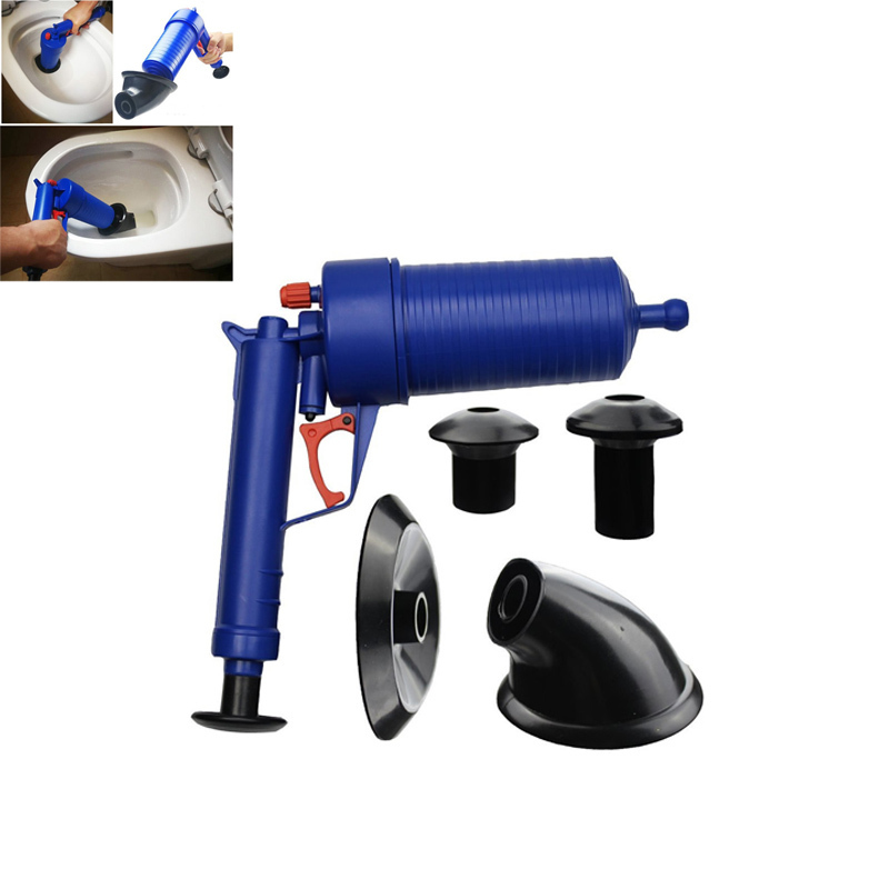 NOCM Air Power Drain Blaster Pistole Hochdruck Leistungsstarke Manuelle Waschbecken Kolben Opener Reiniger Pumpe Für Bad Toiletten Bad Zeigen
