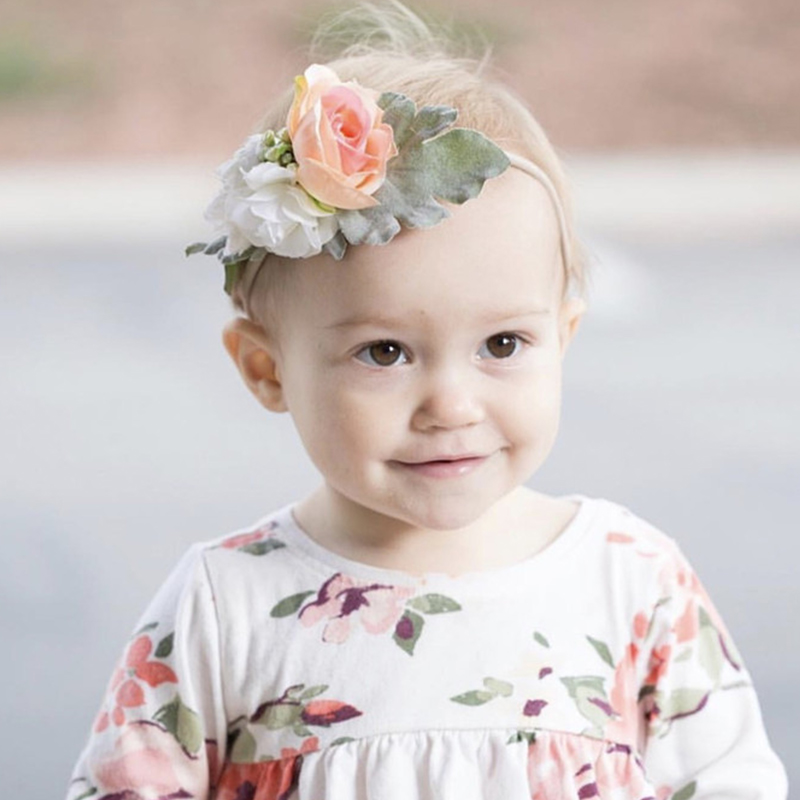 1set Boho Style Girls Flower Headband Set Baby Hairband