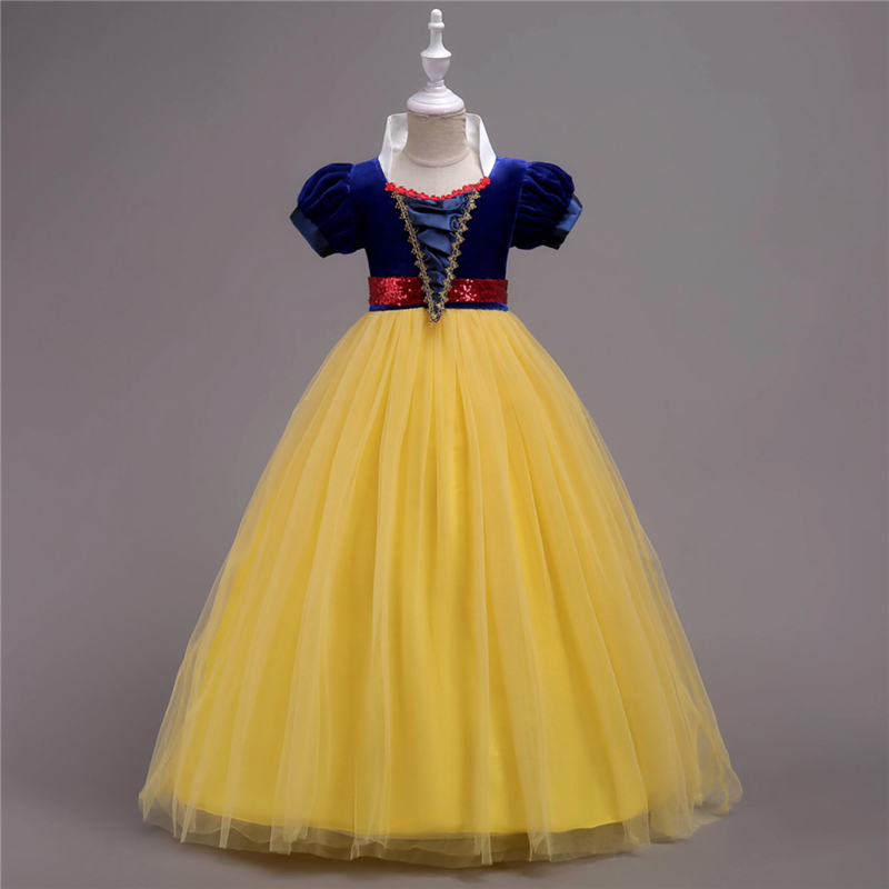 Autumn Fashion 2018 Princess Girls Dress Elegant Formal Party Kids Dresses for Girls Snow White Summer Dress Christmas Costumes