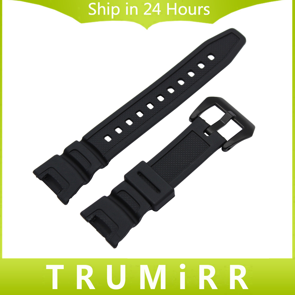 Black Silicone Rubber Watchband for SGW-100 Replacement Watch Band Sports Waterproof Resin Strap Steel Buckle Wrist Bracelet black silicone rubber watchband for sgw 100 replacement watch band sports waterproof resin strap steel buckle wrist bracelet