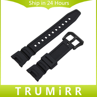 Black Silicone Rubber Watchband For Casio SGW 100 Sports Waterproof Watch Band Soft Wrist Strap Stainless