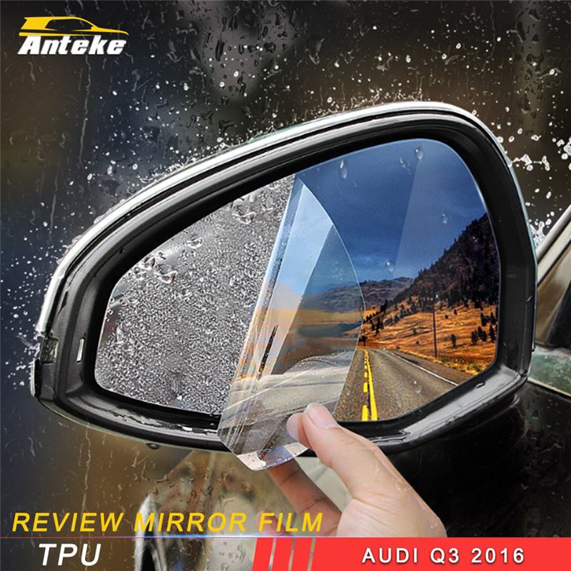 ANTEKE for Audi Q3 2016 2017 2018 Car Styling Review Mirror Film Sticker Exterior Accessories