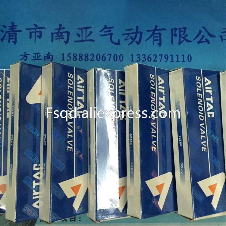 4V230C-08    AIRTAC  DC24V   3 Position 5 Way Air Solenoid Valve pneumatic components airtac solenoid valve 3v220 08 3v200 series 3 2 way 1 4 bspt pneumatic air control valve