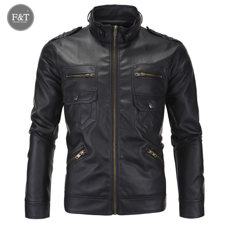 [Asian Size] Fashion Motorcycle Leather Jacket Men Winter Pilot Leather Jackets Coats Mens Famous Brand Jacket Jaqueta De Couro