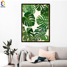 Nordic Fresh Palm Posters and Prints Wall Art Canvas Painting Pictures For Living Room Scandinavian Plant Leaf Home Decor