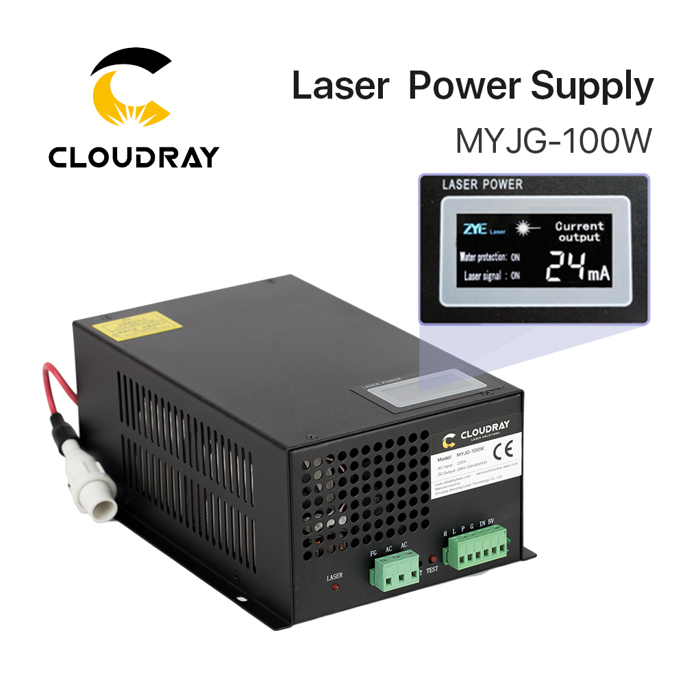 Cloudray 80-100W CO2 Laser Power Supply for CO2 Laser Engraving Cutting Machine MYJG-100W category цена и фото