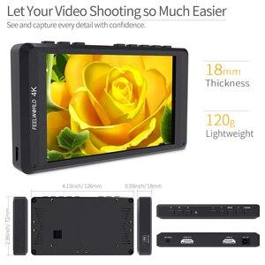 """Image 3 - Feelworld fw450 4.5 """"ips 4 k hdmi câmera monitor de campo 1280x800 hd portátil lcd monitor para dslr com pico campo verificação foco"""