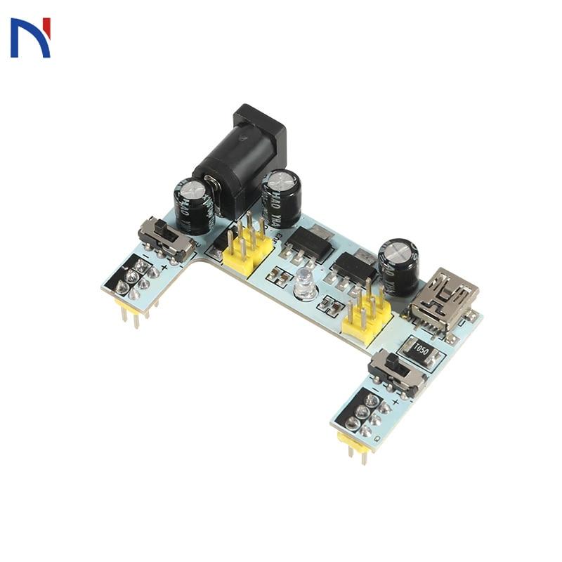 3.3V 5V MB102 Breadboard Power Supply Module MB102 White Breadboard Dedicated Power Module 2-way MB-102 Solderless Bread Board