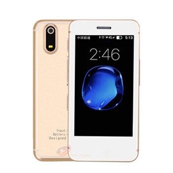 Original S9X 2.5 inch Android 6.0 Ultra-slim Smallest Smartphone Quad Core 1G RAM 8GB ROM Bluetooth Camera WiFi Mini Cell Phone