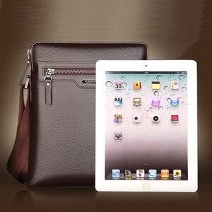 Image 3 - Man Leather Bag VORMOR Brand Shoulder Crossbody Bags PU Leather Male iPad Business Messenger Bag Briefcase For Men