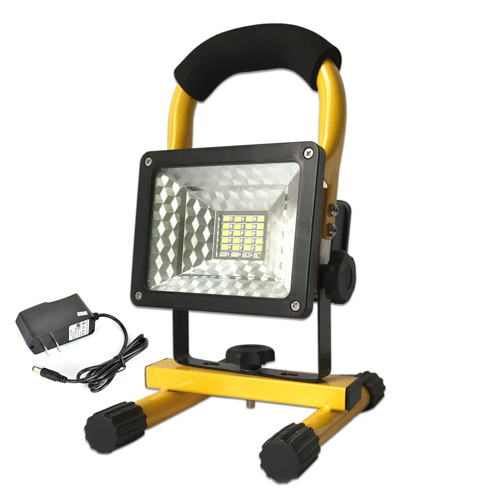 Projecteur Led Exterieur Rechargeable 30w Rechargeable Led Floodlight High Power Xm L T6 Flood Light Outdoor Work Lamp Portable Camping Tent Light Spot Led Exterieur In Floodlights From