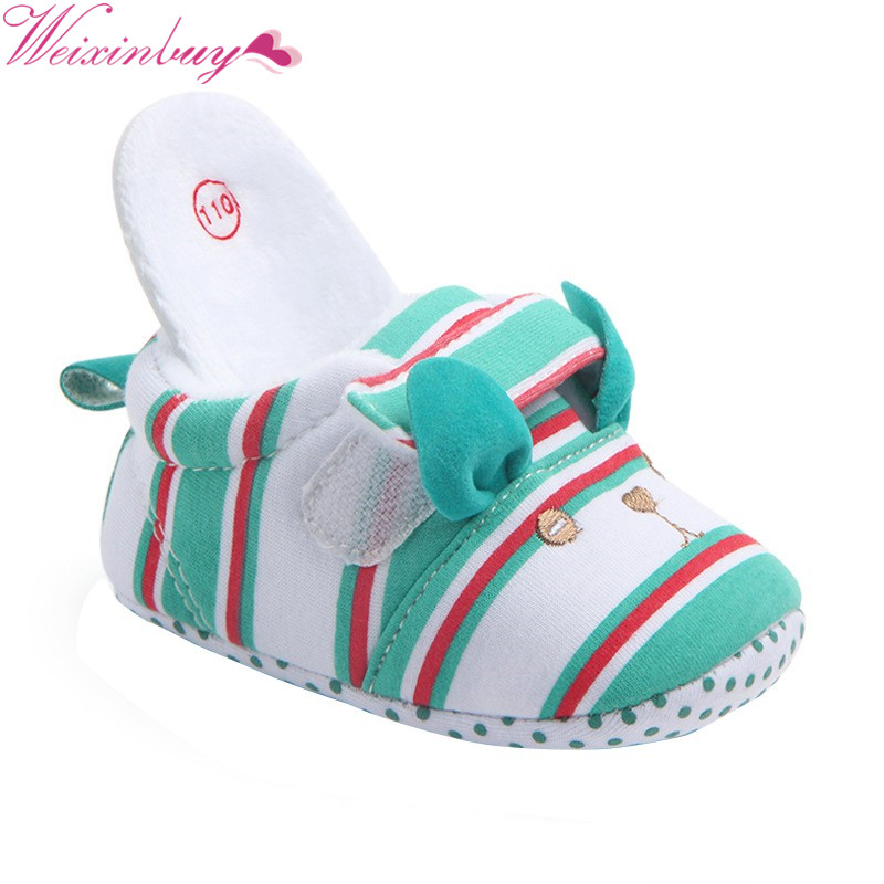 Toddlers Baby Girl Cotton Fabric Soft Sole Baby Shoes Baby Boy Cute Anti-slip First Walkers