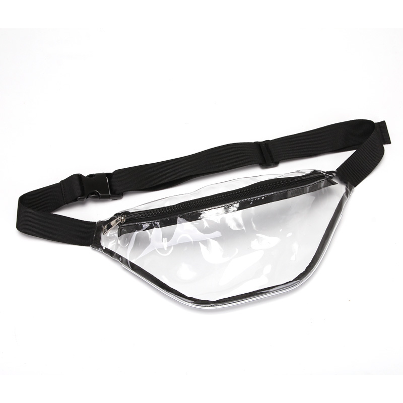 Banane Sac 2019 Women PVC Clear Transparent Four Colors Nice Handsome Waist Bag Fanny Pack Bum Bags Travel Gift