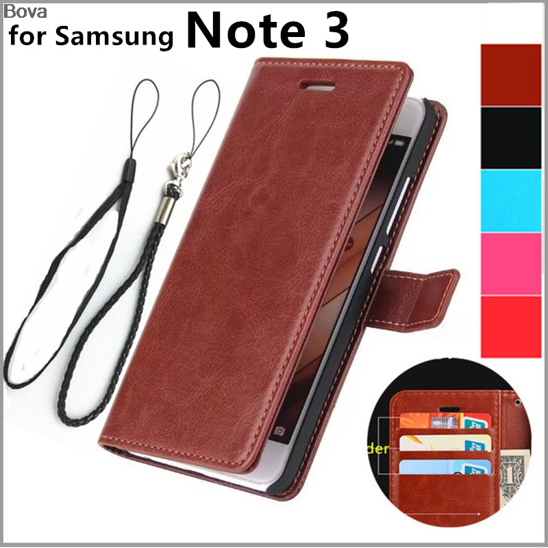 Für Fundas Samsung Note 3 Kartenhalter Cover Hülle für Samsung Galaxy Note 3 N9000 Leder Handyhülle ultradünne Brieftasche Flip Cover