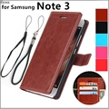 For fundas samsung Note 3 card holder cover case for samsung galaxy note 3 N9000 leather phone case ultra thin wallet flip cover