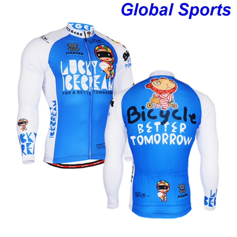 2017 Carton blue mens biking cloths mens hot motocross jersey time trial racing wear clothes long sleeve jerseys