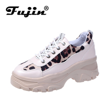 Fujin Women Platform Flats Shoes Loafers Spring Autumn Casual Shoes Sneaker High Quality Platform Walking Shoes zapatos de mujer 2017 women spring autumn breathable platform casual shoes womens walking boots woman 8cm high heels swing shoes zapatos mujer