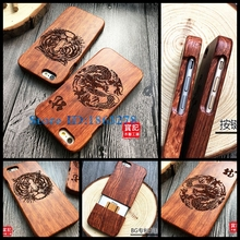 25 Design Tiger King Chinese Dragon Luxury Wood Phone Case For Apple iPhone 5 5S SE 6 6plus 6S Plus Carving Wooden Cover Bags