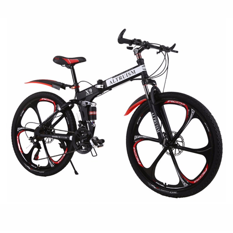 Hot Sale Altruism Mountain Bikes 26-Inch Steel 21-Speed Bicycles X9 Dual Disc Brakes Variable Speed Road Bike Racing Bicycle(China)