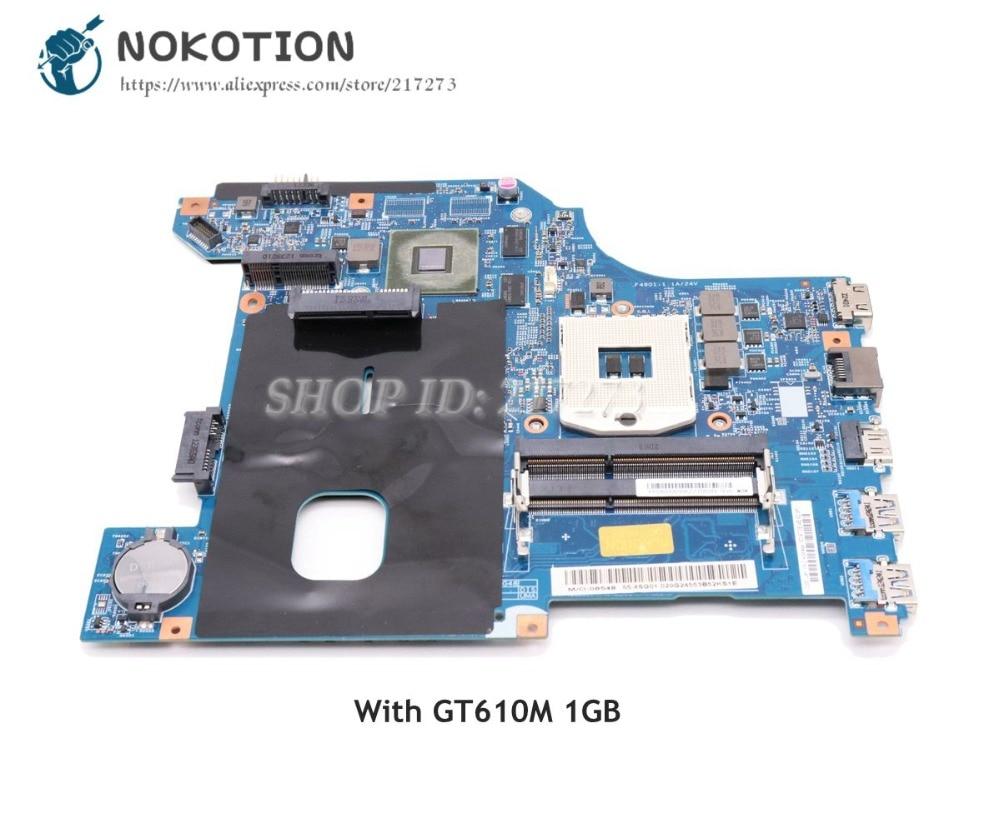 NOKOTION For Lenovo G480 Laptop Motherboard 11S900001 QIWG5_G6_G9 LA-7981P MAIN BOARD HM76 DDR3 GT610M 1GB la 7982p laptop motherboard for lenovo g580 p580 p585l main board hm76 gma hd ddr3