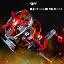 All-matel Fly Raft Fishing Reel Speed Ratio 3:1 Fishing Reel Bearings 4+1BB Saltwater Fishing Carp Reel Tackle 2Color Available