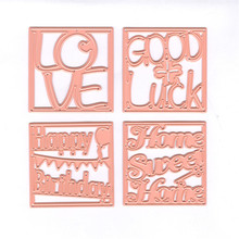 InLoveArts Craft Letters Love Metal Cuttings Dies Heart and Flower Die Cuts Background Embossing