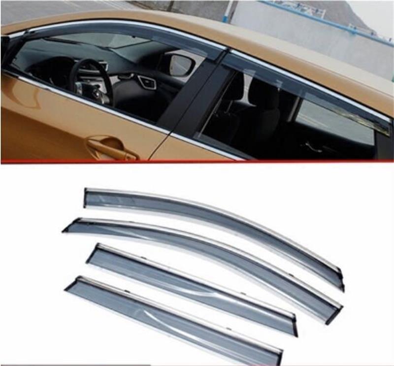 For Nissan Qashqai 2008-2013/2015-2017 Window Visor Vent Shades Sun Rain Deflector Guard Awnings Car Styling Accessories цена 2017