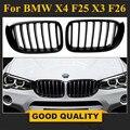 X3 F25 ABS черный гриль X4 F26 передняя решетка матовый черный капот для BMW новый кроссовер 2014 +