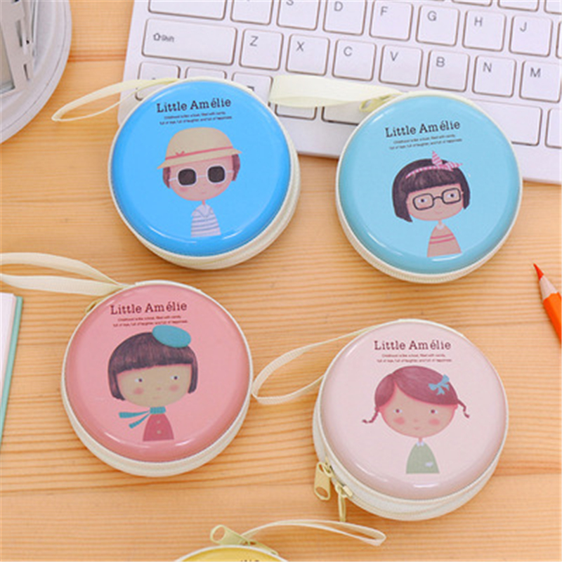 Dl Korean Cute Horse Iron Element Girl Zero Wallet Mini Pocket Earphone Package Coin Key Bag Stationery Office Supplies For
