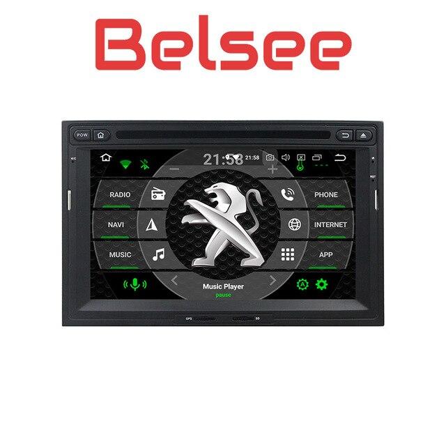 Belsee стерео радио DVD плеер Android 8,0 Авторадио Octa Core Navi для peugeot 3008 5008 партнер Citroen Berlingo 2010-2016