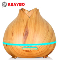 400ml Aroma Essential Oil Diffuser Ultrasonic Air Humidifier Purifier With Wood Grain LED Lights For Office