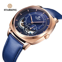 STARKING Automatic Mechanical Watches New Men Dress Fashion Stainless Steel WristWatch High Quality Blue Luxury Men Watch Sales