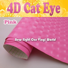 High Quality Pink 4D Cat Eye Vinyl For Car Decals Air Bubble Free Size:1.52*30M/Roll
