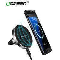 Ugreen Wireless Charger 10W Car Phone Holder For Samsung Galaxy S7 360 Degree Magnetic Mount Holder