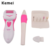 Kemei New Lady Foot Dry Dead Skin Care Pedicure Set Foot Heel Callus Skin Removal Foot Exfoliate Nail Grind Tools File Grinding