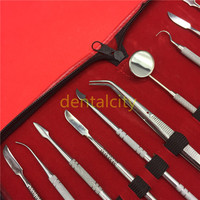 Y&W&F BRAND NEW Wax Carving Tool Set Stainless Steel Versatile Kit Dental Instrument With Holder Case Dental Lab Equipment