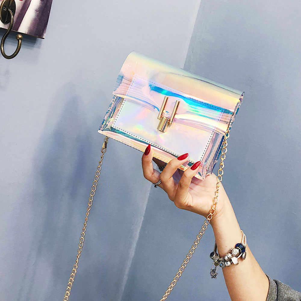 Tas untuk Wanita 2019 Fashion Wanita Transparan Laser Tas Selempang Messenger Tas Bahu Bag Bolsa Feminina3.7